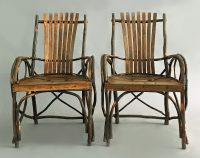 Pair of Adirondack Armchairs, Circa 1910