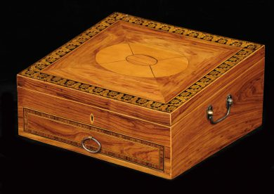 Antique Regency Ladies Toilet Box, Circa 1820