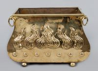 Brass Serpentine-Shaped Coal Scuttle