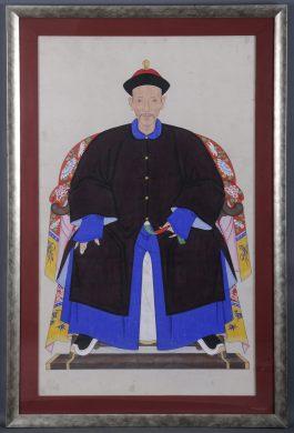 Chinese Ancestor Portrait of a Gentleman, Circa 1850