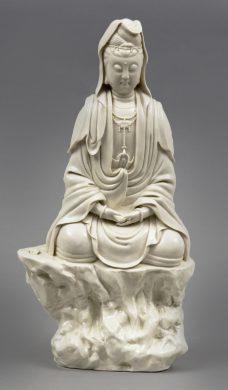 Chinese Blanc de Chine Guanyin, Circa 1880