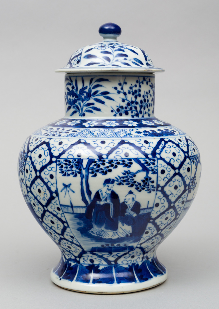 Chinese Blue And White Baluster Jar Amp Lid