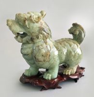 Chinese Carved Jade Buddhistic Lion
