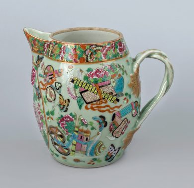 Chinese Export Canton Porcelain Cider Jug