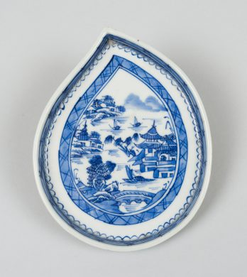 Chinese Blue and White Leaf Dish