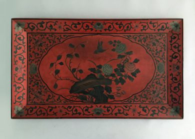 Chinese Red Lacquered Tray