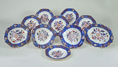Copeland & Garrett Late Spode Ten-Piece Dessert Set