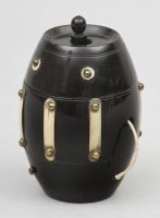 Antique Ebony String Box, Circa 1860