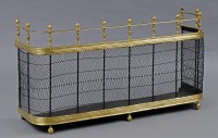 English Brass Nursery Fireplace Fender, Circa 1850