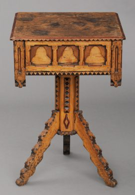 English Antique Country Gothic Pine Center Table