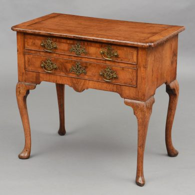 English Antique George II Period Walnut Lowboy