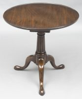 English Antique George II Walnut Tripod Tea Table