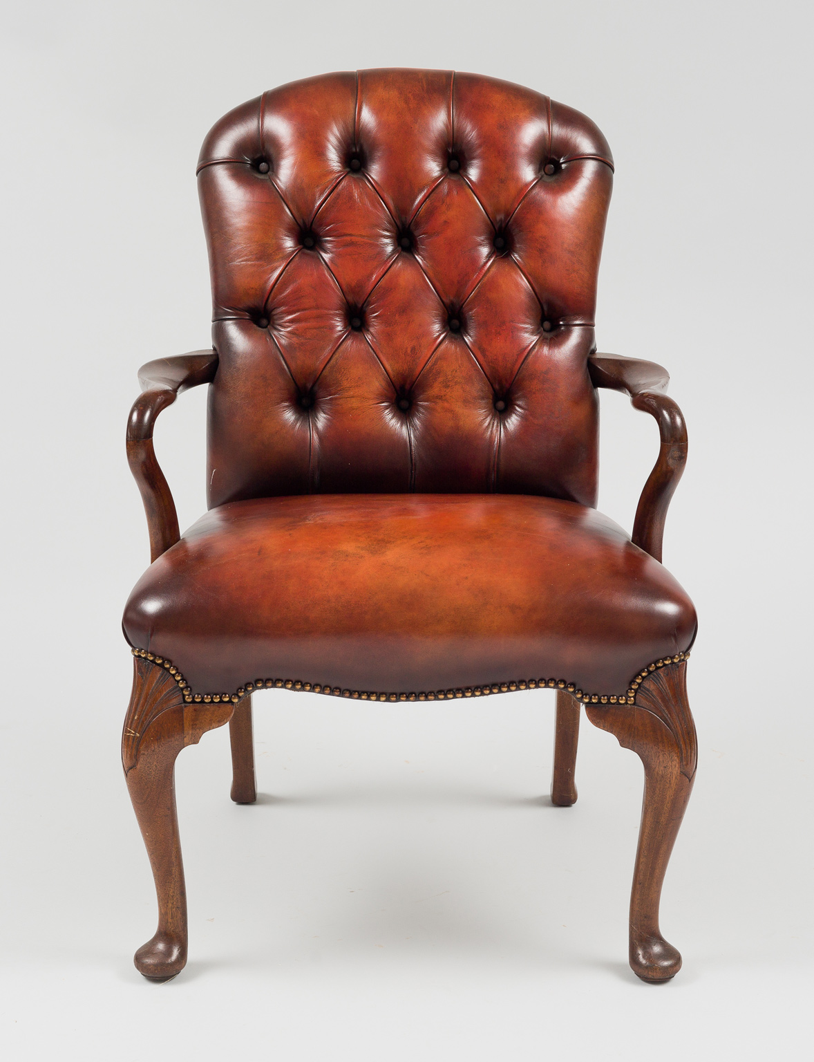 English Antique Mahogany Shepherd's Crook Armchair ...