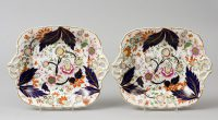 English Pair of Derby Dessert Plates, Circa 1800