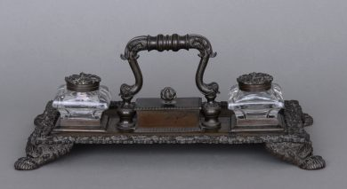 English Regency Bronze Inkstand, Circa 1820