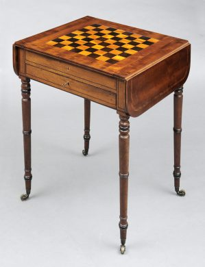 English Antique Regency Games Table
