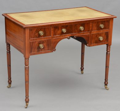English Antique Regency Mahogany Ladies Writing Desk