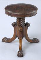 English Antique Regency Revolving Piano Stool