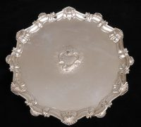 George II Sterling Silver Salver, 1754