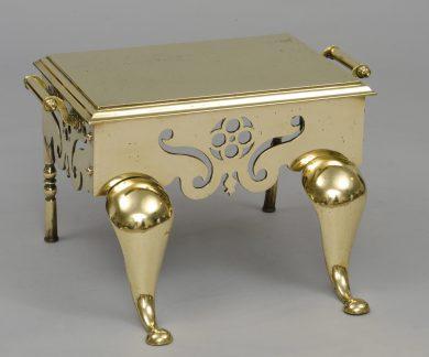 English Georgian Brass Footman or Trivet, Circa 1820
