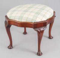 English Antique Victorian Mahogany Stool