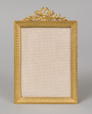 French Dore Bronze Photo Frame