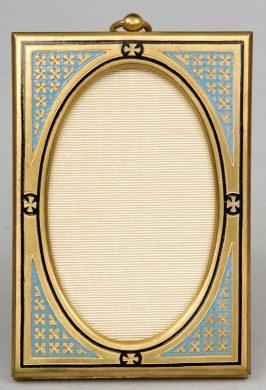 French Enameled & Gilded Frame, Circa 1890