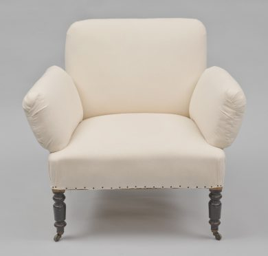 Unusual Antique French Napoleon III Small Armchair