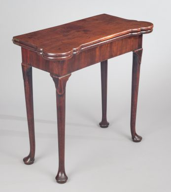 George II Mahogany Concertina Action Card Table