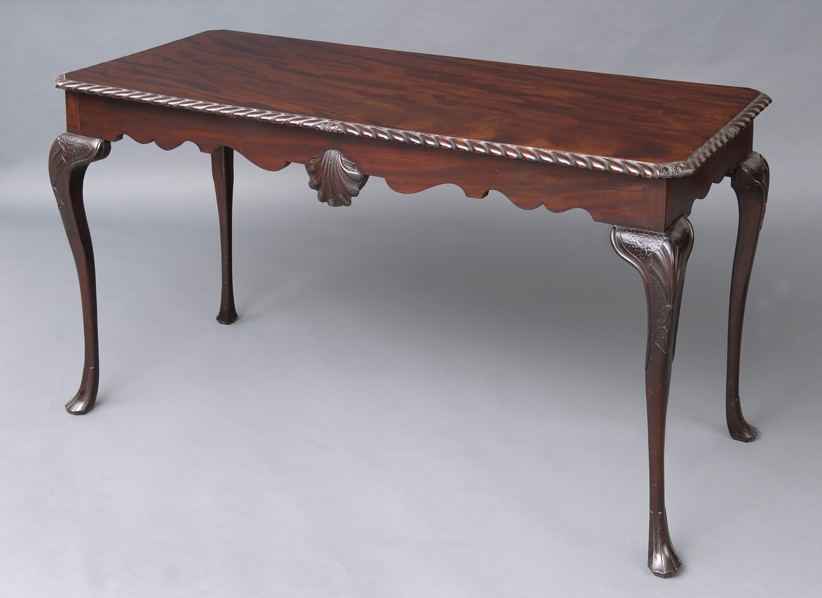 Captivating Irish Carved Mahogany Side Table, Circa 1850