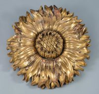 Italian Carved and Gilded Sunflower Sculpture