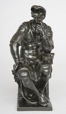 Italian Grand Tour Bronze Figure of de' Medici, Circa 1880