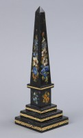 Grand Tour Painted Marble Obelisk