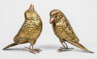 Pair of Brass Birds by Sergio Bustamante