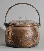 Large English Antique Copper Pot, Circa 1810