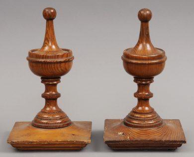 Large Pair Antique Finials, Circa 1880