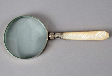 Magnifying Glass with Sterling and Mother of Pearl Handle