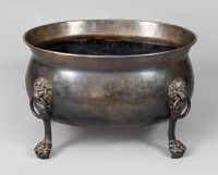 Oval Patinated Brass Wine Cooler