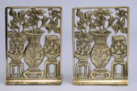Pair Bronze Bookends