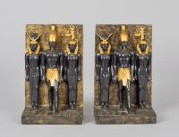 Pair of Bookends with Egyptian Motif