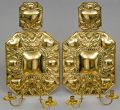Pair Dutch Antique Brass Wall Sconces, Circa 1820