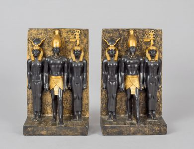 Pair of Vintage Egyptian Motif Bookends