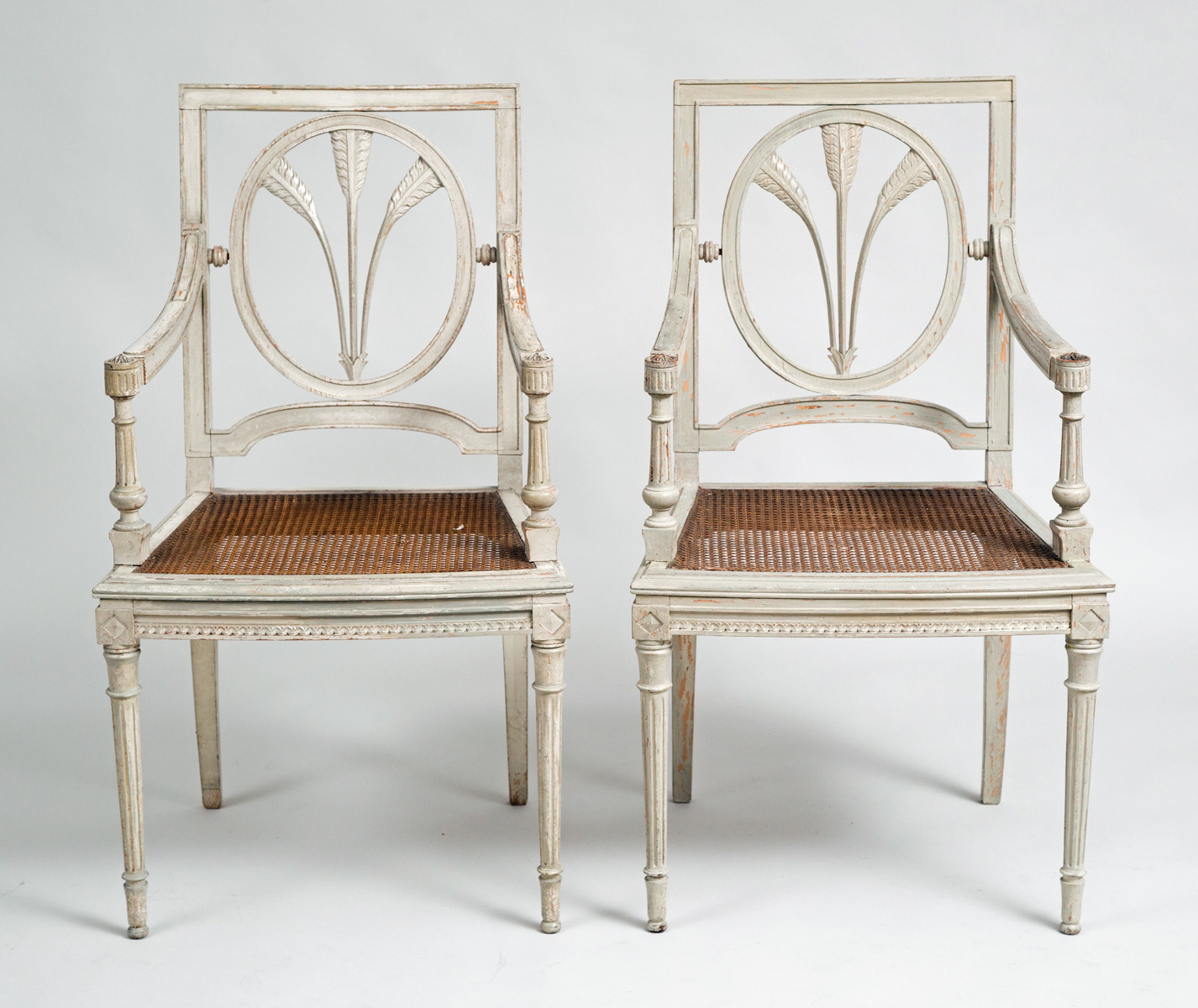 antique french armchair french grey painted pair armchairs