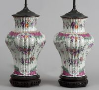Pair of Samson Vases Lamped, Circa 1880