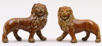 Pair of Staffordshire Treacle Lions