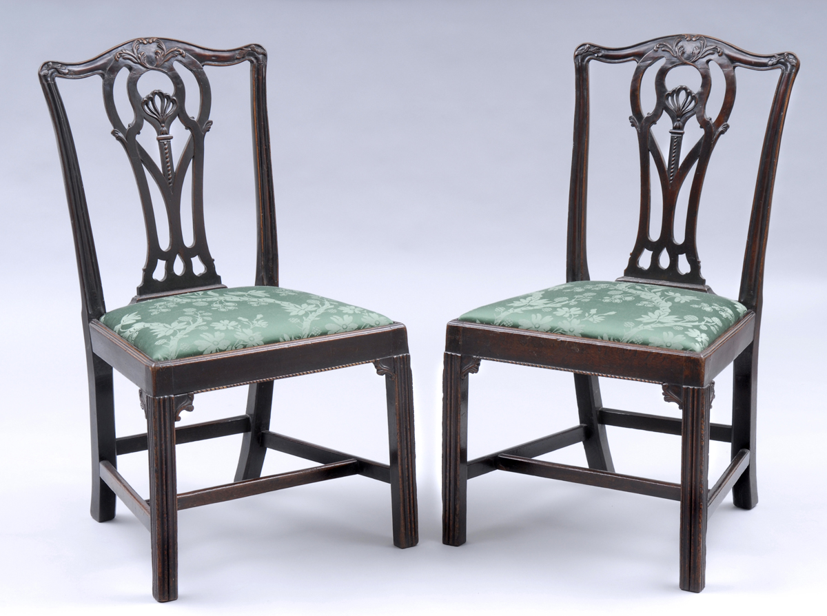 Pair of English Period Chippendale Mahogany Side Chairs,18th Century - Antique Mahogany Chairs English Chippendale Mahogany Side Chairs