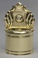 Rare Dutch Brass Salt Box, Circa 1790