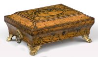 Regency Penwork Box with Chinoiserie Decoration, Circa 1810