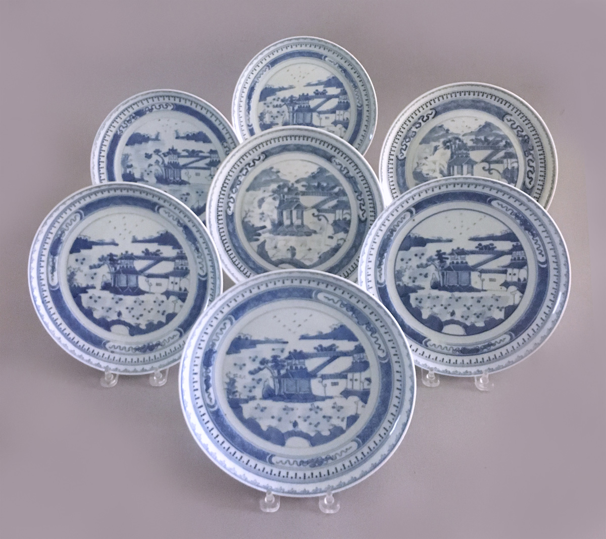 Blue And White Chinese Dinner Set