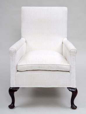 Upholstered High-Backed Armchair, Circa 1860